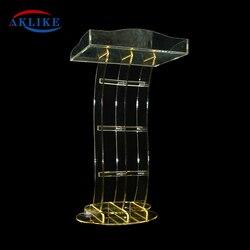 Acrylic Single Shelf Podium Lectern Plexiglass And Clear, AKLIKE Table Office Table School Table Podium Modern Lecterns