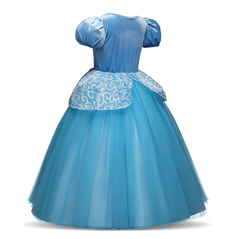 Girls Princess Dress for Kids Cosplay Costume Halloween Party Dresses Role-play Clothes Girls Vestidos Clothing 3