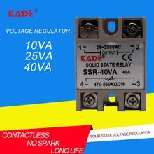 Regulador de voltaje de estado sólido SSR -10VA/25VA/40VA VR a CA 40A, color blanco