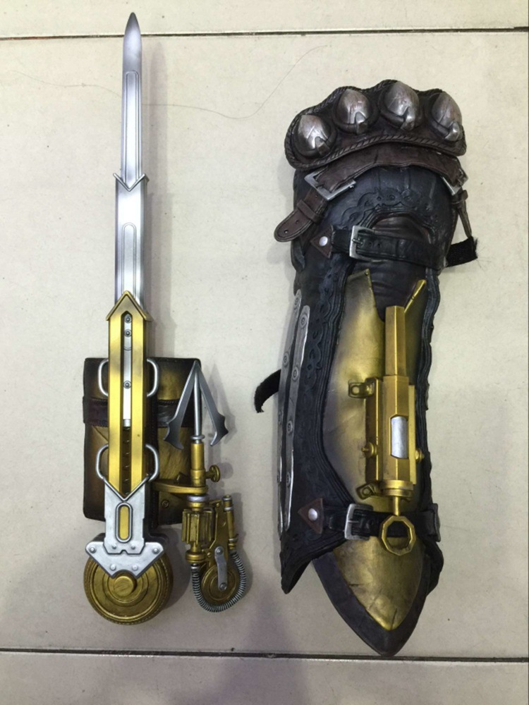 Assassin's Creed 6 Syndicate Cosplay Weapons Props 1: 1 Lawrence Of Wristlet With Sleeve Sword Sleeve Swords