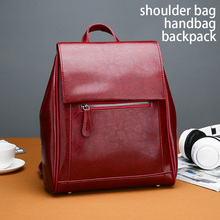 Fabra split leather women backpacks wine red shoulder bag england style casual daypacks 2019 new bagpacks for women