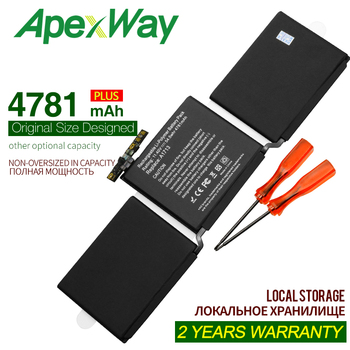 ApexWay 11.4V 4781mAh New  A1713 Laptop Battery for Apple MacBook Pro 13'' A1708 2016 year With Tools