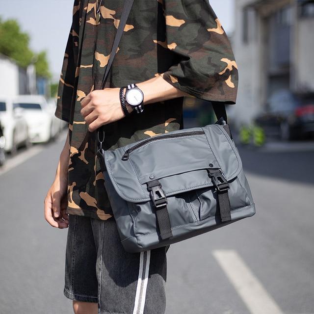 Hommes mode Nylon sac à bandoulière multifonctionnel mâle épaule sacs de messager grandes cartables affaires Bolsa Masculina XA292ZC