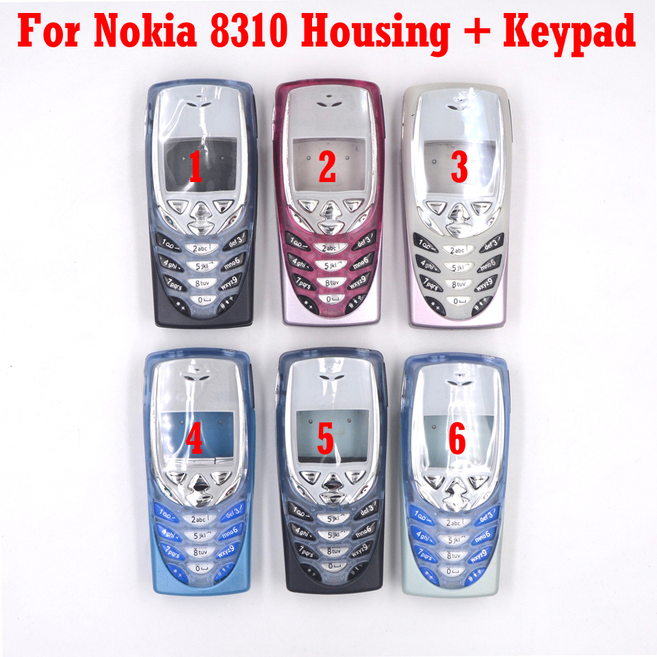 HKFASTEL New  Housing For Nokia 8310 Mobile Phone Full Cover Case With Keypad|Mobile Phone Housings & Frames| |  - title=