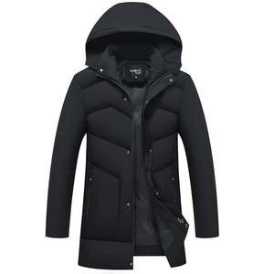 Image 3 - AKSR Mens Winter Jacket Coat Large Size Overcoat Parkas Thick Warm Hooded Winter Coat Men Windbreaker Casaco Masculino Inverno