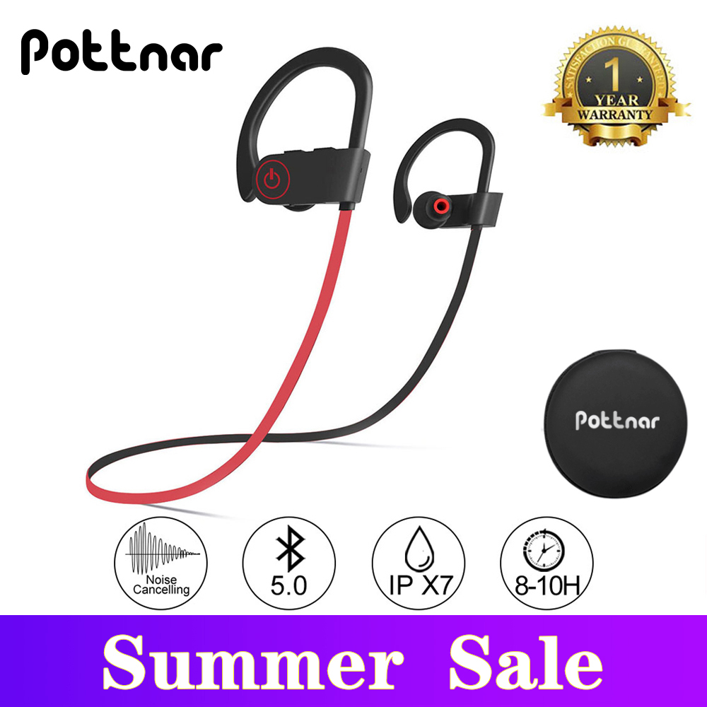 Promote'Pottnar Earphone Bluetooth Wireless Earbuds TWS for Fitness Running IPX7 Earhook Sports╙