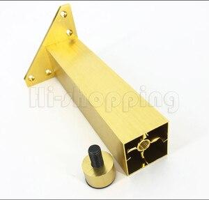 Image 5 - 4 adet Metal mobilya ayakları fırçalanmış altın 6 8 10 12 15 18 20CM TV dolabı banyo dolabı kahve masa Dresser koltuk ayakları