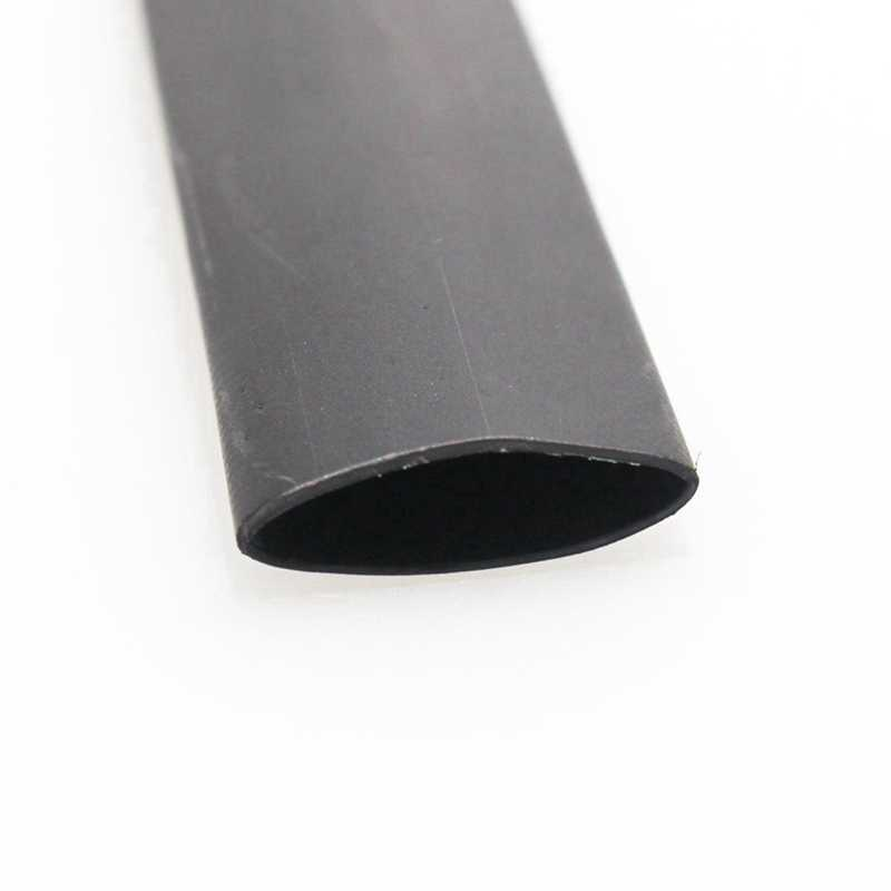 2 Pcs Black Heat Shrink Tube Electrical Sleeving Car Cable/Wire Heat Shrink Tubing Wrap,2M (50MM & 25MM)
