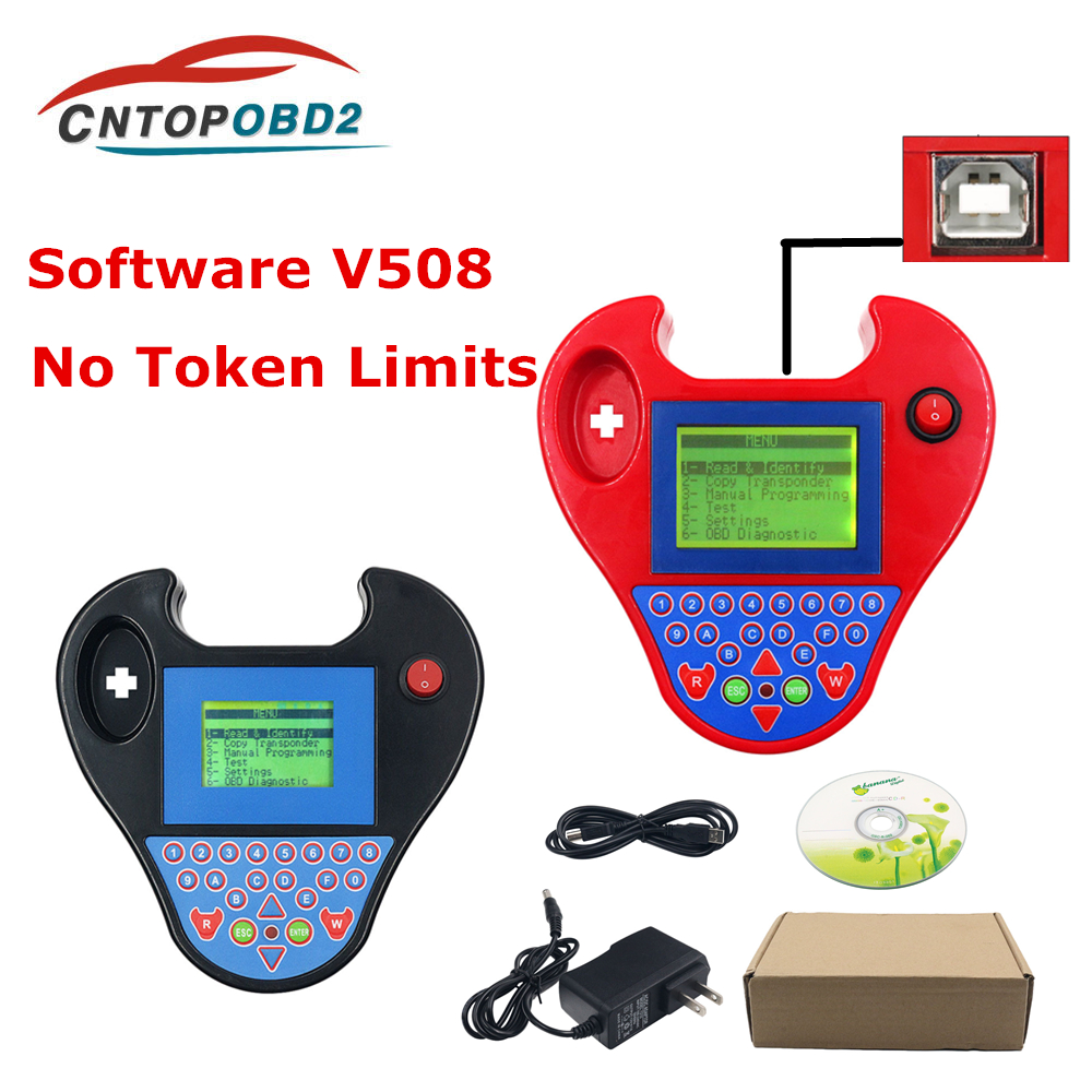Mini Zedbull Auto key programmer V508 Smart Mini Zed Bull Transponder Clone Programmer  Pocket Type No Tokens Limits ZED-BULL