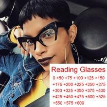 Gafas de lectura tipo Ojo de gato para hombre y mujer, anteojos de media montura, transparentes, de luz azul antirayos, Vintage, color negro
