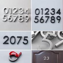 Samoprzylepne nowoczesne numer drzwi tablica płyta drzwi numer domu numer drzwi hotelowe adres cyfry naklejki znak