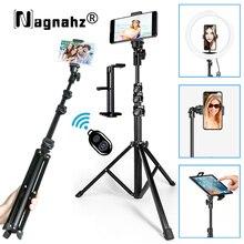 63 polegadas telefone selfie stick tripé com bluetooth remoto universal vídeo ao vivo selfie stand para xiaomi huawei iphone galaxy