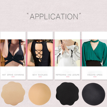 1 Pair Women Self Adhesive Push Up Bra Crop Top Nipple Cover Silicone Bra Pads Pasties Boob Tape Women Accessories Intimates image