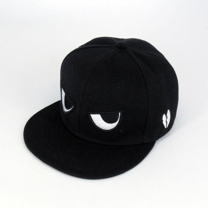 New Fashion Men Women Baseball Cap Cute Cartoon Eyes Embroidery Unisex Snapback Adjustable Teenage Hip Hop Flat Hat Caps CP0388