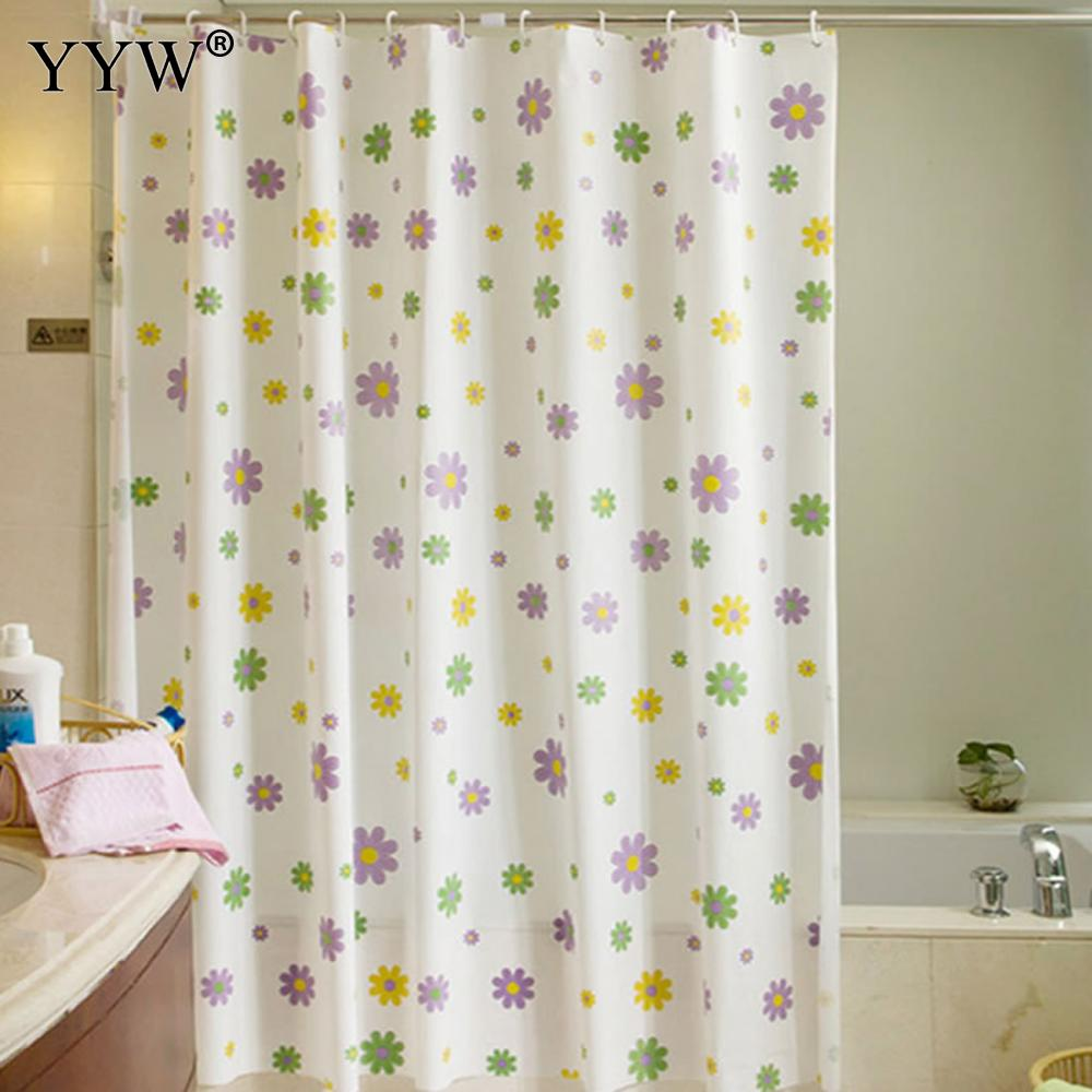 1pc Flower Shower Curtain Waterproof 3d Large Shower Curtain Bath Screens Bathing Sheer For Home Decoration Bathroom Accessaries