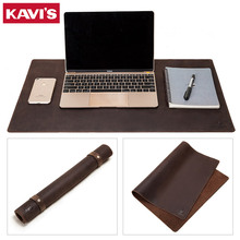 KAVIS 2020 Cowhide Leather Desk Mat Computer Mousepad Portable Office Protection Mouse Pad Gamer Keyboard Table Cover for Laptop