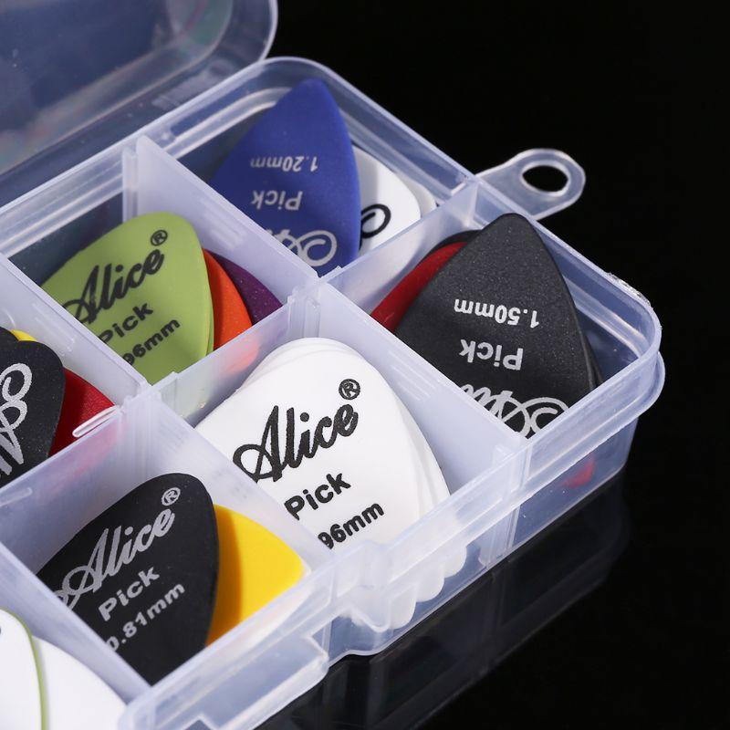 Guitar Pick 40in1 Case Set Plastic Mix 0.58-1.50 Color Random