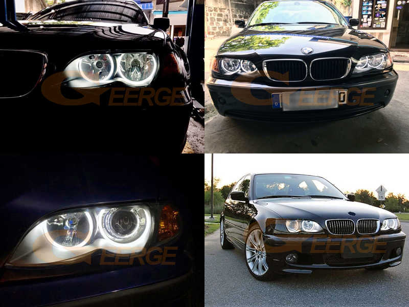 Car White CCFL Angel Eyes Halo Rings Alta luminosit/à Light Fit per E46 Bigking Angel Eyes Halo Rings