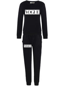 XUANCOOL Tracksuit Sweatshirt Long-Pant-Set Female Outfit Vogue-Letters Autumn Winter Fashion