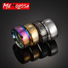 Rings Religious Jewelry Arabic Stainless-Steel Islamic Muslim Prayer Anillo 8MM Unisex