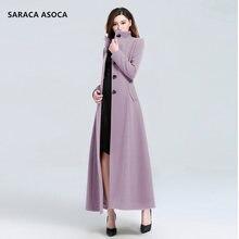 Fashion Mandarin Collar Single Breasted Slim Winter Coat Women Plus Size XXXL Long Seelve OverCoat Female Outwear For Girls