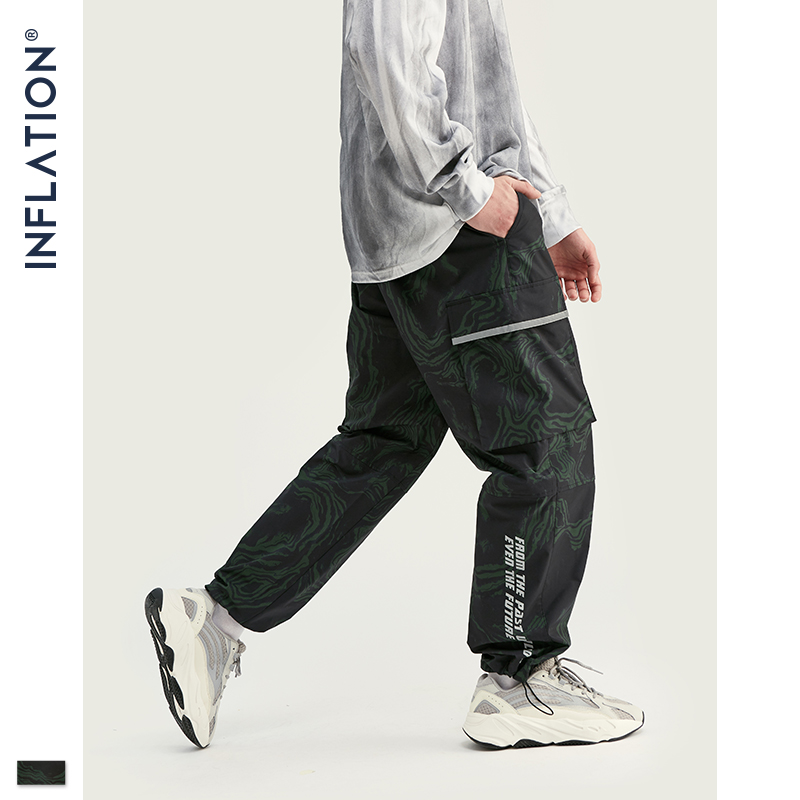 INFLATION 2019 Autumn Men Jogger Pants Men Dark Camouflage Joggers Casual Pants 2019 Man Hip Hop Pants Camo Jogger 93427W