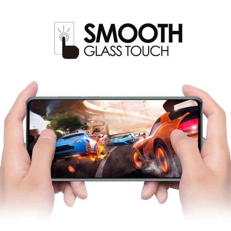Funda de vidrio templado de pegamento completo 5d para huawei p30 lite cubierta protectora de pantalla de teléfono de seguridad tremp en p 30 p30lite luz