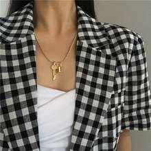 Модное дизайнерское ожерелье с цепочкой золотистого цвета и