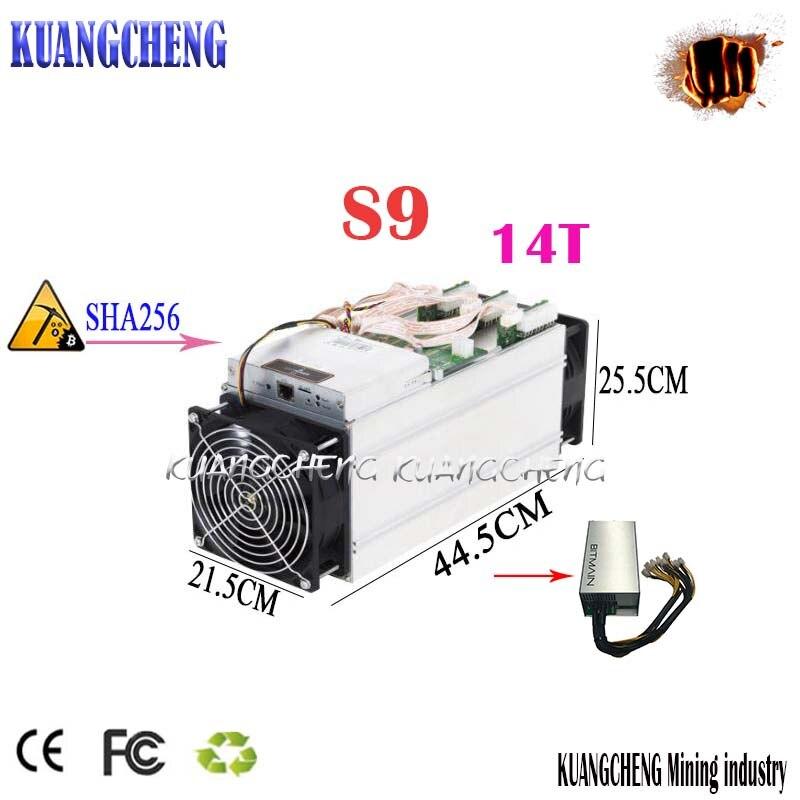 Б/у старомодный BITMAIN antminer S9 14 T/s Asic Miner по сравнению с PSU SHA-256 Antminer V9/WhatMiner M3 can mine BTC BCH bette
