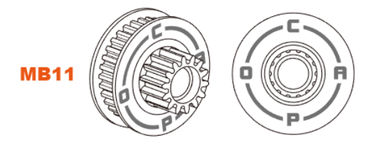 Capo SIXER 1:6 Jimny Samurai 15828MB11 <font><b>Pulley</b></font> main gear RC Crawler option upgrade parts image