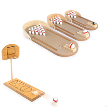 Mini Bowling Educational Funny Sports Toys Set with Ball anxiety and stress relief toy kids birthday gift  stress toys desk