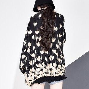 Image 4 - XITAO 쉬폰 인쇄 패턴 블라우스 패션 새로운 여성 2020 봄 풀 슬리브 풀오버 우아한 소수 캐주얼 셔츠 GCC3233