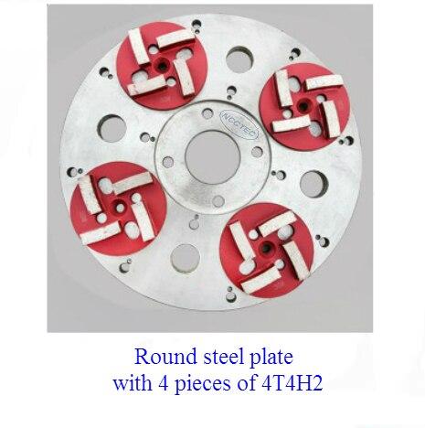 """13,"""" круговой стальной тяжелый диск без ржавчины для Алмазный пол шлифовальный станок   330 мм шасси Круглая Пластина для установки алмазных инструментов - Цвет: steel plate 4T4H2"""