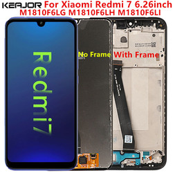 Para xiaomi redmi 7 tela lcd testado aaa display lcd + substituição da tela de toque com moldura para xiaomi redmi 7 m1810f6lg