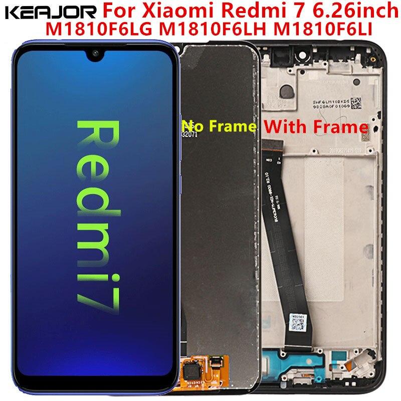 Xiaomi Redmi için 7 LCD ekran test AAA Lcd ekran + dokunmatik ekran değiştirme çerçeve ile Xiaomi Redmi için 7 M1810F6LG