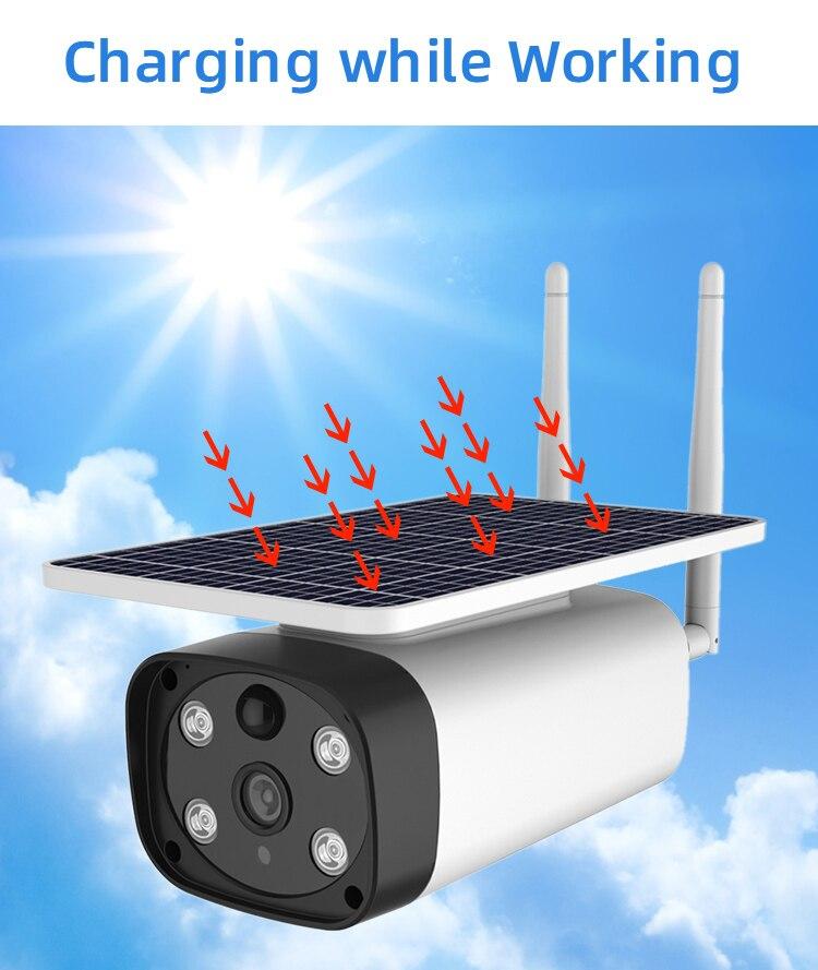 SmartYIBA Wifi ip камера на солнечной батарейке Starlight ночное видение зарядка во время работы домашняя камера видеонаблюдения Водонепроницаемая