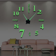 Diy Luminous Wall Clock 120cm Quartz Modern mute W