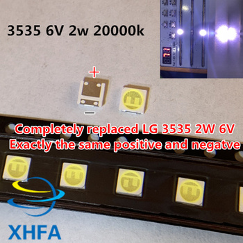 3535 SMD LED beads 6V LG 2W 120PCS FOR LCD TV repair LG led TV backlight strip lights with light-emitting diode image