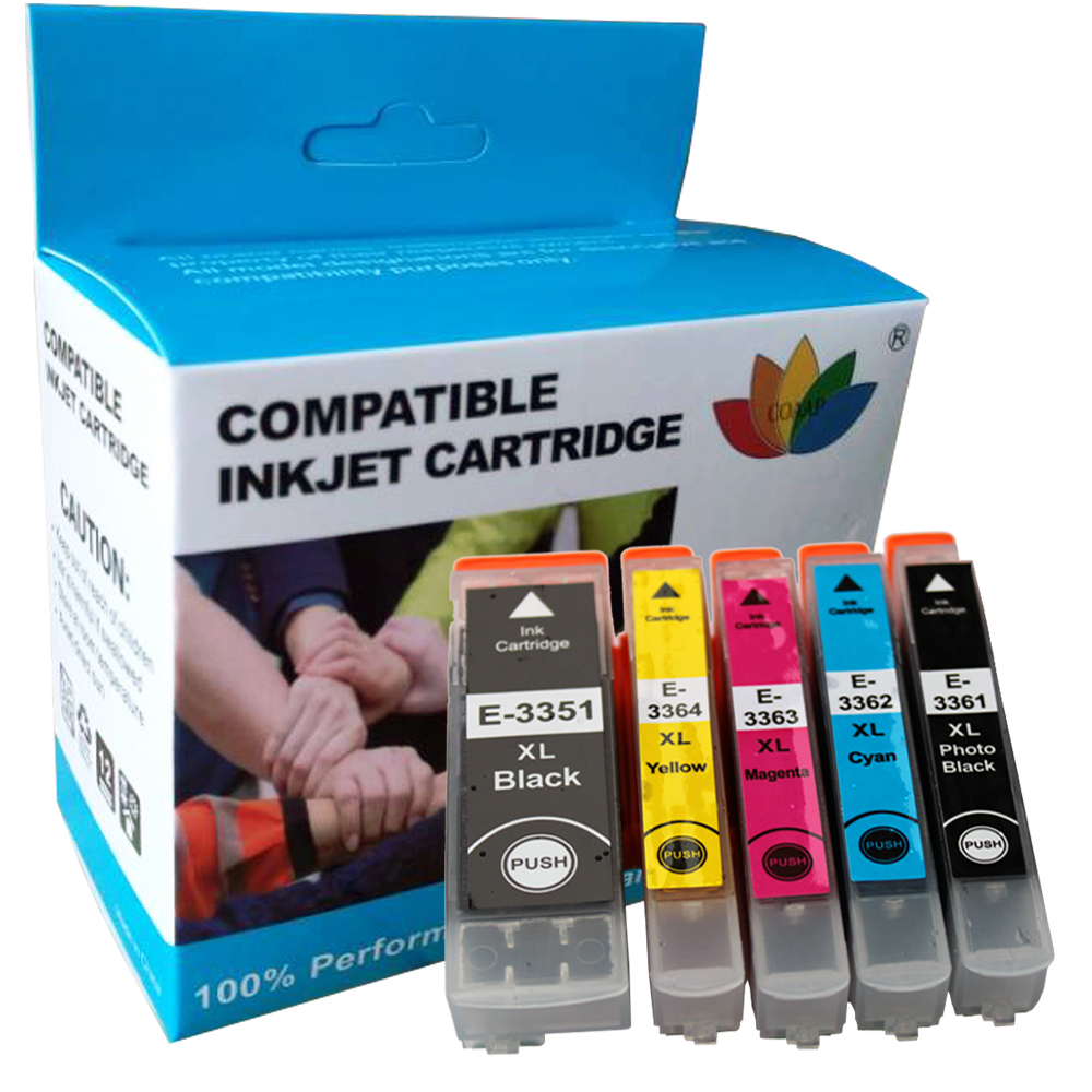 5 совместимых чернильных картриджей 33XL T3351 T3361 T3362 T3363 T3364 для Epson