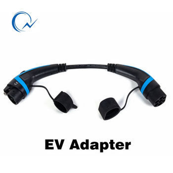 32A EV adapter J1772 Type 1 to Type 2 IEC62196 EV Charging cable 0.5 Meter long for Extension TUV/UL passed 1 phase