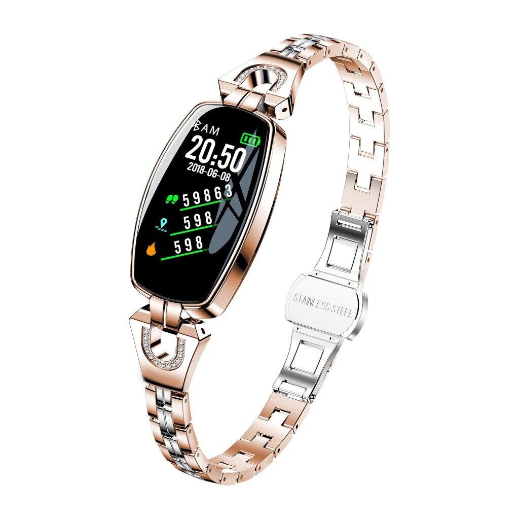 H8 femmes montre intelligente étanche moniteur de fréquence cardiaque Calories caméra télécommande SmartWatch femmes cadeau pour les filles # D25