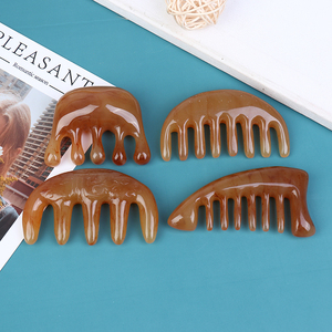 Natural Pocket Ox Horn Comb Of Hair No Static Massage Comb Health Care Hair Brush Hairdressing Comb For Hair Styling Tool