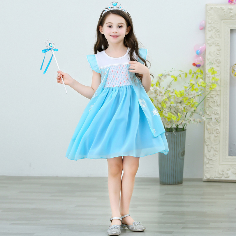 2020 New Halloween Dress For Girl Cosplay Elza Princess Anna Elsa Costumes Kids Fantasia Girls New Years Party Clothing 18m 5t Aliexpress Com Imall Com