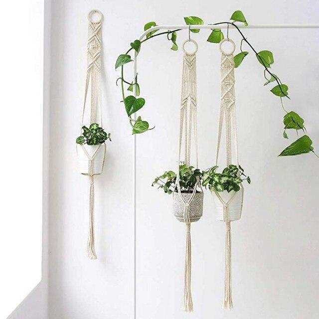 Macrame Plant Hanger Handmade Flower Pot Holder Planter Basket Holder Home Decor
