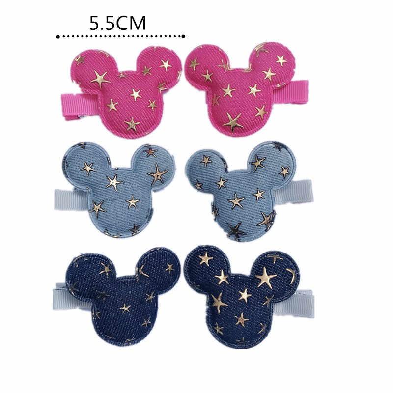 6 ชิ้น/เซ็ตเด็กผู้หญิง Mickey Ears Headband LOL Minnie อุปกรณ์เสริมผมดาวคลิปผม Bandeau Bebe ผู้หญิง Little Girl's dress UP