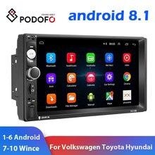 """Podofo 2 Din Автомобильный Радио Мультимедиа Видео плеер 2 din """" Wince/Android с gps Wifi Авторадио для Универсальный VW Toyota hyundai"""