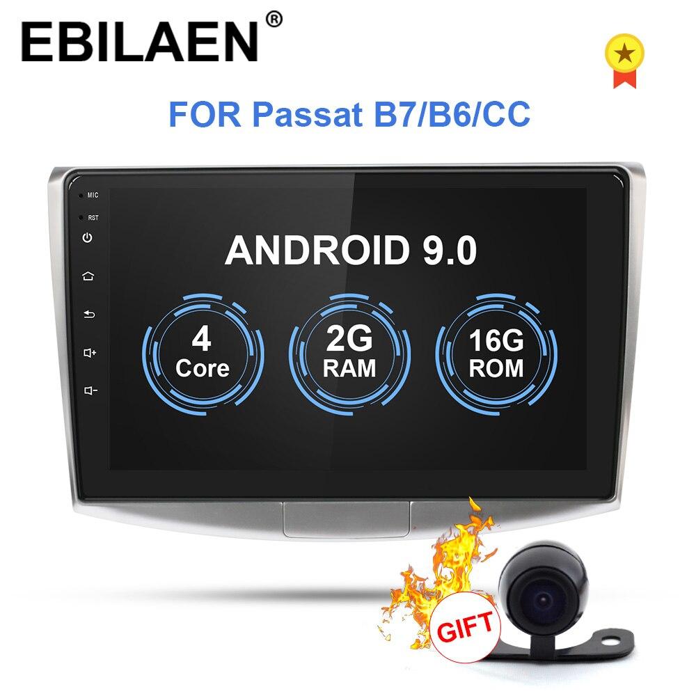 Ebilaen Auto Radio Lettore Multimediale per Vw Volkswagen Passat B7 B6/Magotan 2Din Android 9.0 Autoradio di Navigazione Gps Dvr macchina Fotografica