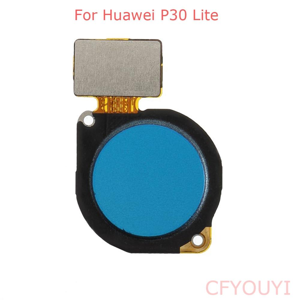 Home Button Key Fingerprint Flex Cable For Huawei P30 Lite