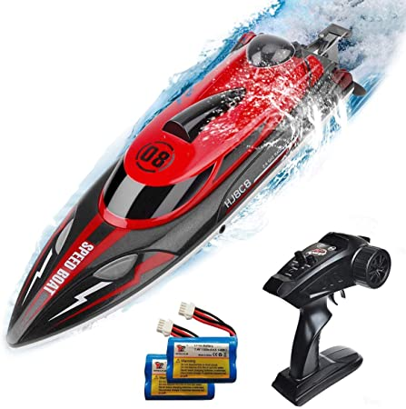 HJ808 RC Boat 2.4Ghz 25km/h High-Speed Remote Control Racing Ship Water Speed Boat Children Model Toy