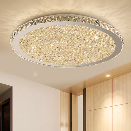 Modern K9 Crystal Led Flush Mount Ceiling Lights Fixture Mixed Crystal Home Ceiling Lamps For Living Room Bedroom Kitchen Ceiling Lights Aliexpress
